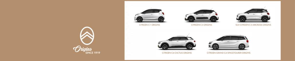 100 jaar Citroën, Orgins modellen